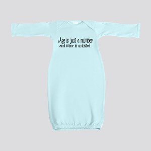 Age is Just a Number Baby Gown