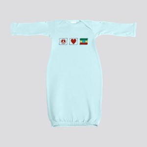 PeaceLoveEthiopiaSquares Baby Gown