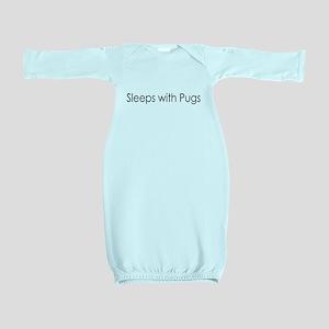 3-sleeppug Baby Gown