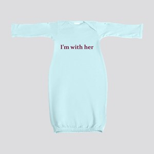 I'm with her Baby Gown
