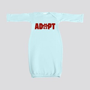 Cute Pets Paw Cat Dog Adopt Red Baby Gown
