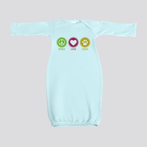 Peace - Love - Dogs 1 Baby Gown