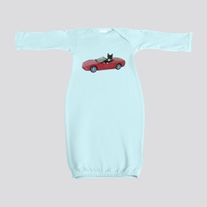 Cat in Red Car Baby Gown