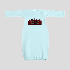 CLE Maroon/Black Baby Gown