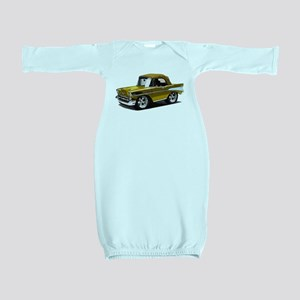 BabyAmericanMuscleCar_57BelR_Gold Baby Gown