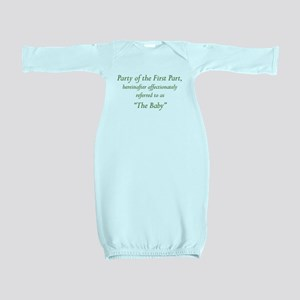 Party of the First Part Baby Gown
