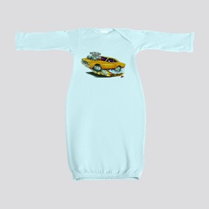 1970 Roadrunner Orange Car Baby Gown