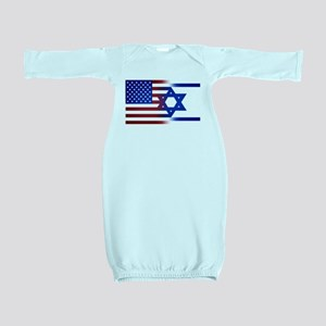 America stands with Israel Baby Gown