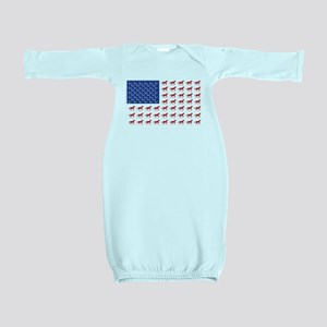 Patriotic Horses USA Baby Gown