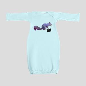 Purple Squirrel Baby Gown