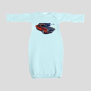 Dodge Challenger Orange Car Baby Gown