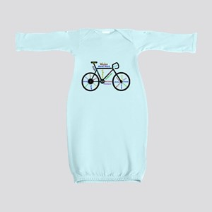 Bike made up of words to motivate Baby Gown