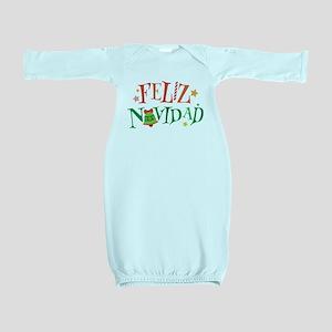 Feliz Navidad Christmas Baby Gown