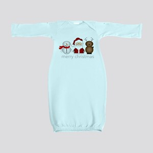 Merry Christmas Characters Baby Gown