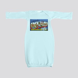 Cleveland Ohio Greetings Baby Gown