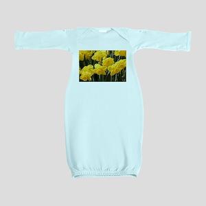 Daffodil flowers in bloom in garden Baby Gown