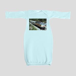 Railway Locomotive, Grand Canyon, Arizon Baby Gown