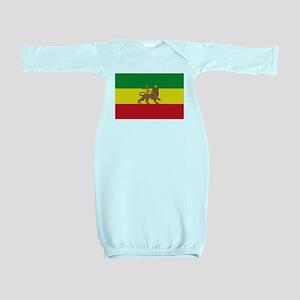 Ethiopia Flag Lion of Judah Rasta Reggae Baby Gown