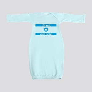 I Stand with Israel - Flag Baby Gown