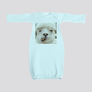 Funny Alpaca Smile Baby Gown