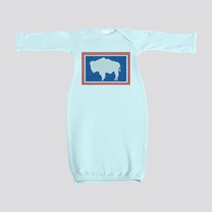 Wyoming State Flag Baby Gown