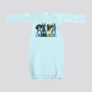 4 Great Danes Baby Gown