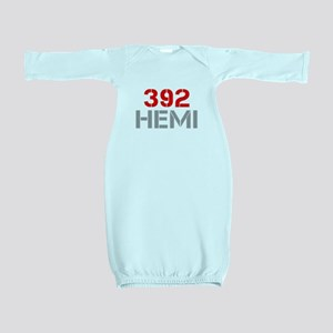 392-hemi-clean-red-gray Baby Gown