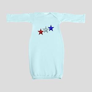Three Shiny Stars Baby Gown