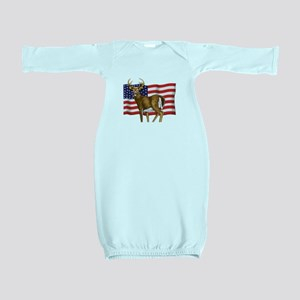 American White Tail Deer Buck Baby Gown