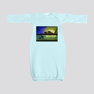 Animals African Landscape Baby Gown