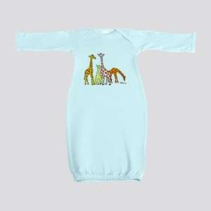 Giraffe Family Portrait in Oranges and Yellows Bab