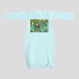 Irises / Tiger Cat Baby Gown