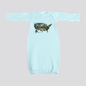 america license Baby Gown