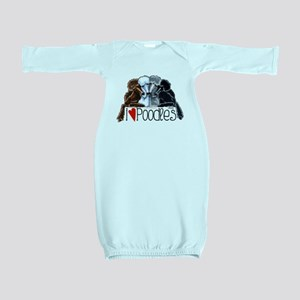 Love Poodles Baby Gown