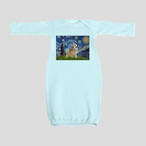 Starry Night Corgi Baby Gown