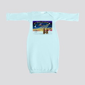 XmasSunrise/2 Airedales Baby Gown