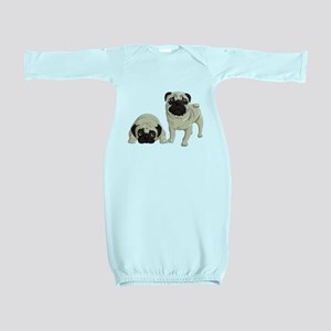 Pugs Baby Gown