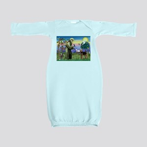 St Francis / Airedale Baby Gown