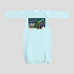 XmasMagic/ 2 Dobies Baby Gown