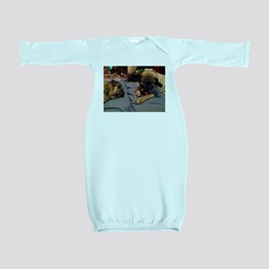 Pugs chilling Baby Gown