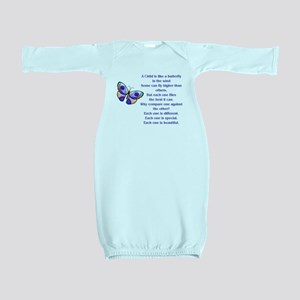 A Child Is Like a Butterfly....Beautiful Baby Gown