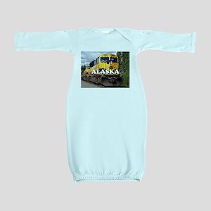 Alaska Railroad engine locomotive 2 Baby Gown