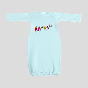 Winter clothesline craft Baby Gown