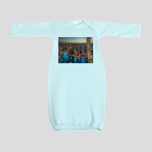 Dubai Skyline Baby Gown