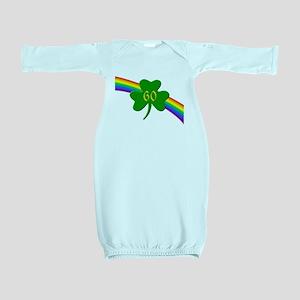 Rainbow Shamrock 60 Baby Gown