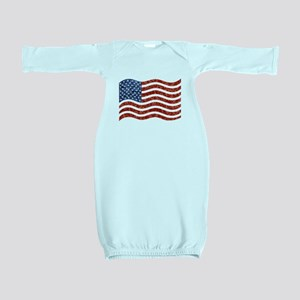 sequin american flag Baby Gown