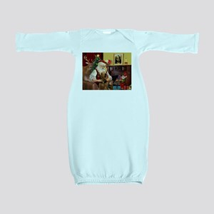 Santa and his Airedale Baby Gown