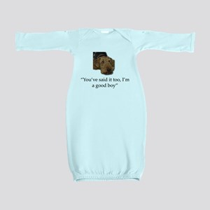 Sulking Airedale Terrier Giving Cute Eye Baby Gown