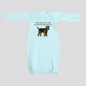 Airedale Terrier Getting Ready for Payba Baby Gown