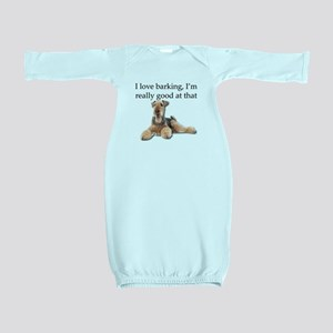 Airedale Terrier is Really good at barki Baby Gown